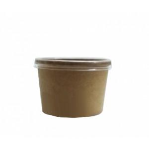 Упаковка ECO SOUP 240 мл КРАФТ с прозрачной крышкой 8С