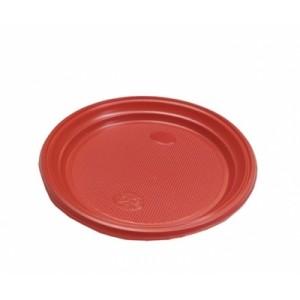 Тарелка одноразовая пластик 16,5 см КРАСНАЯ 100 шт