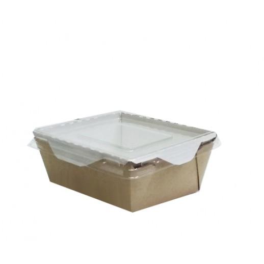 Упаковка ECO OpSalad 350 121*106*55 мм, Картонная упаковка, бумажные крафт пакеты