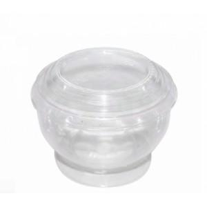 Креманка одноразовая пластиковая 200 мл с крышкой КД117 25 шт 39241