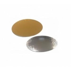 Подложка картон. круг №10 золото/серебро