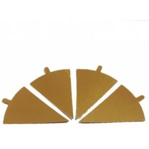 Подложка золото/золото треугольник 120*90 мм с ручкой 0,8 мм 100 шт 45228