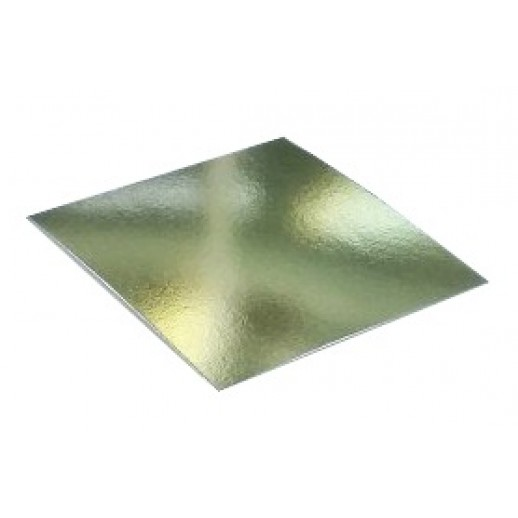 Подложка усилен золото/жемчуг квадрат 260*260мм (толщ1,5мм) GWD260*260, Подложки и подносы для тортов