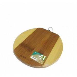 Доска разделочная бамбук 200*240*10 мм №1 овал ДР-11