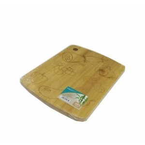 Доска разделочная бамбук 220*160*10 мм №19 с рисунком ДР-124