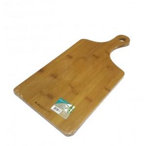 Доска разделочная бамбук 330*180*12 мм №4 с ручкой ДР-108