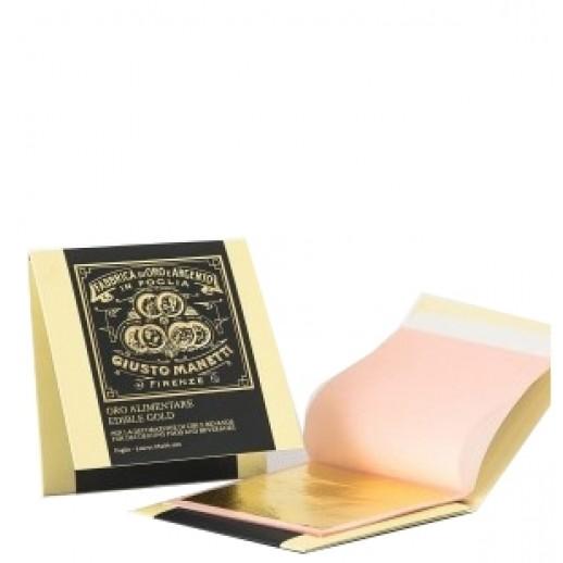ЗОЛОТО пищевое лист 86*86 мм 1шт(лист) 54221, Пищевое золото и серебро, золотые хлопья