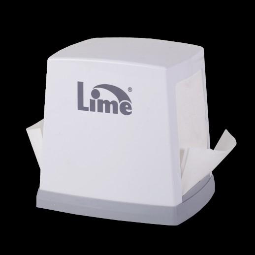 Диспенсер настольный для салфеток белый LIME 947000, Диспенсеры для полотенец, мыла, туалетной бумаги