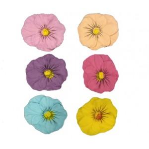 Сахарный цветок Анютины Глазки d 5 см 1 шт 53903