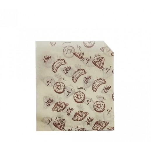 Упаковка уголок бумажный 175*140 мм Выпечка 1 шт 108-011, Картонная упаковка, бумажные крафт пакеты