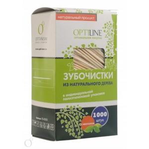 Зубочистки в инд упаковке пленка 1000 шт с ментолом OPTILINE 10-0510