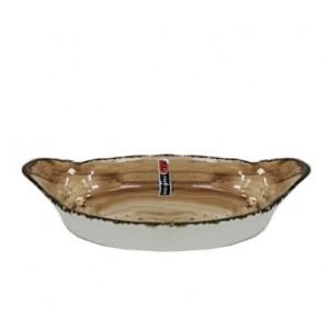 Блюдо-кроншель овальное d 20 см Organica Sand Fusion PL 81223092