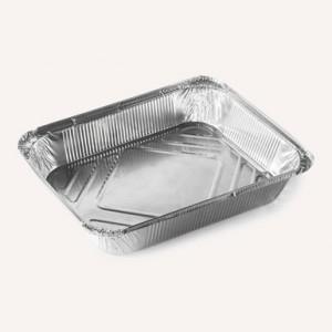Форма алюминиевая прямоугольная 22*12,7/18,7*9,5 h 3,3 см 620 мл 50 шт 410-005