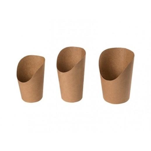 Упаковка ECO СНЭК L 720 мл d 75/110 h 131 мм , Картонная упаковка, бумажные крафт пакеты