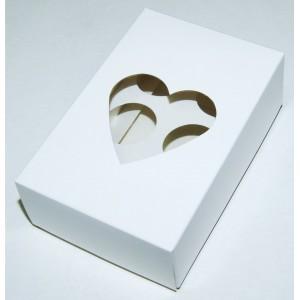 Упаковка для конфет СЕРДЦЕ 6 ячеек 555109
