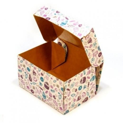 Упаковка ECO CAKE SWEET 1200 150*100*85 мм, Картонная упаковка, бумажные крафт пакеты
