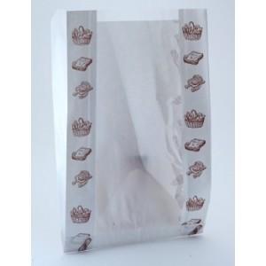 Упаковка Пакет бумажный 32*20*6,5 см Хлеб с окном 108-003