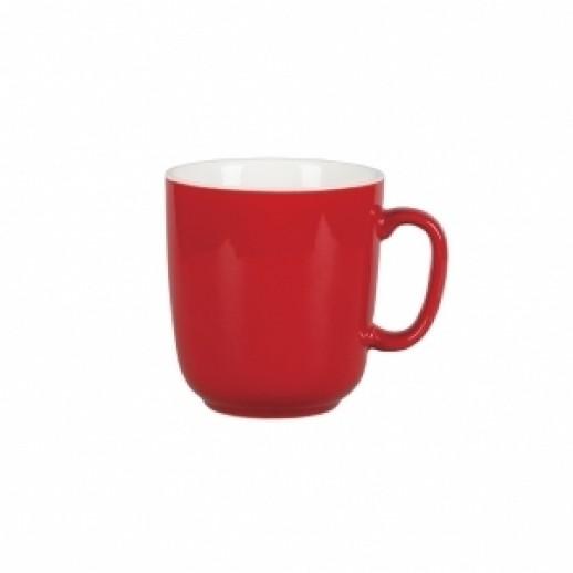 Кружка 300 мл красный цвет Бариста 81223272, Фарфоровая посуда KUNST WERK P. L.