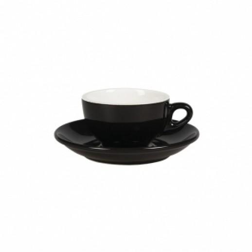 Чайная пара 180 мл черный цвет Бариста 81223279, Фарфоровая посуда KUNST WERK P. L.