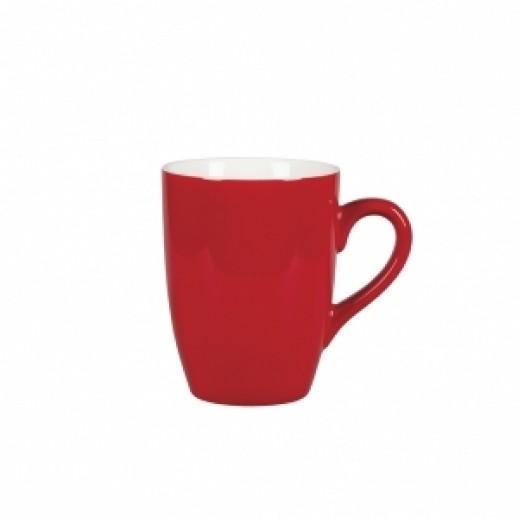 Кружка 320 мл красный цвет Бариста 81223302, Фарфоровая посуда KUNST WERK P. L.