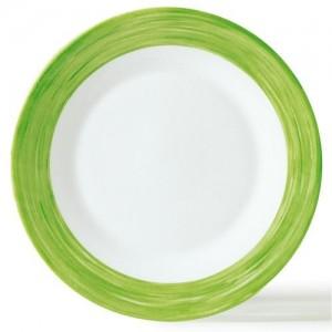 Браш Тарелка d 25,4 см зеленый край