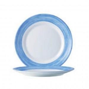 Браш Тарелка d 25,4 см голубой край