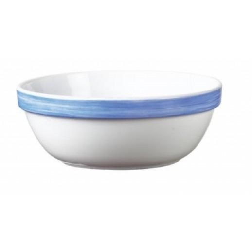 Браш Салатник 120 мм 275 мл голубой край, Посуда из стеклокерамики