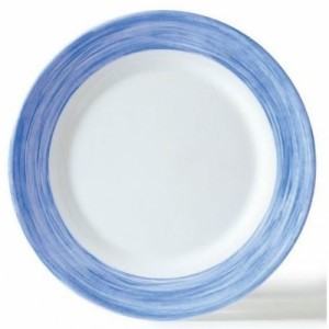 Браш Тарелка d 23,5 см голубой край