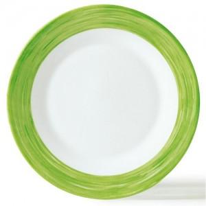 Браш Тарелка d 23,5 см зеленый край