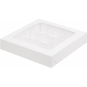 Упаковка для конфет с крышкой серебро 160*160*30 мм 050071