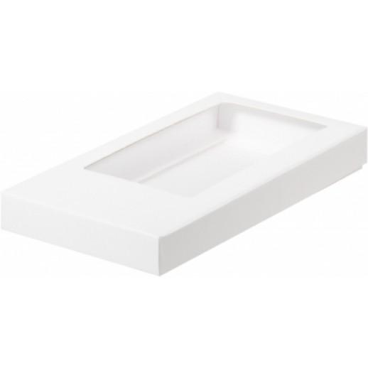 Упаковка для шоколадной плитки белая 160*80*17 мм 060700