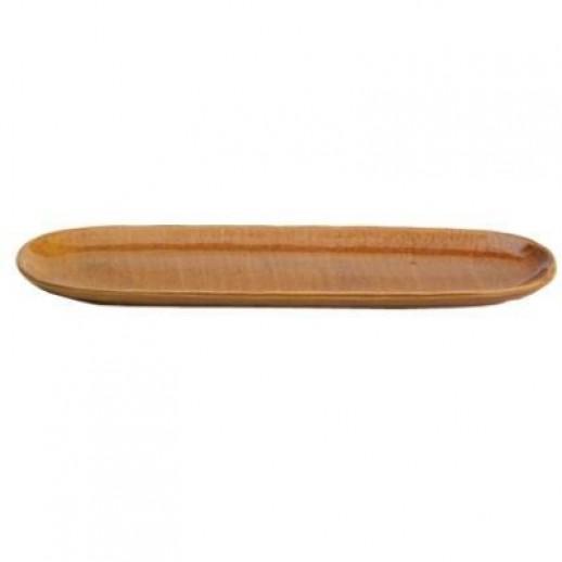 Тарелка овальная 27*8,4 см Киото Беж 25068/РТ666 32239, Японская посуда для суши-бара