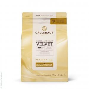 Шоколад 2,5 кг белый 33,1% Вельвет Callebaut пакет 371371 Бельгия