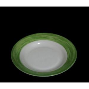 Тарелка суповая d 22,5 см зелен край Браш 54754