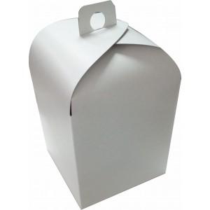 Упаковка для кулича белая картон 15*15*18 см 555543