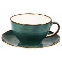 Чашка с блюдцем 375 мл Green Sea 81223159