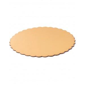 Подложка усилен золото/жемчуг ажур 280 мм (толщ 3,2)