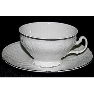 Чашка с блюдцем 155мм недекорированная Бернадот