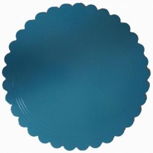Подложка усилен золото/голубая ажур 280 мм (толщ 3,2)