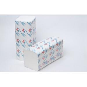 Полотенца листовые V 2-слойные супербелые мягкие НРБ (21шт в коробке )