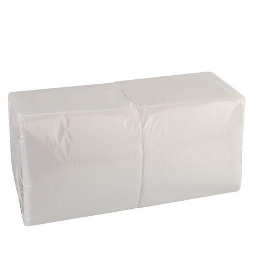 ЛАЙМ Салфетки 33*33 1-сл 400 шт белые 8/уп 610100, Бумажные салфетки