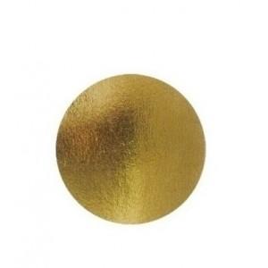 Подложка золото/картон круг №12 0,8 мм