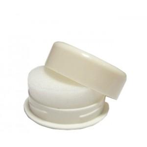 Губка для обуви пластик круг
