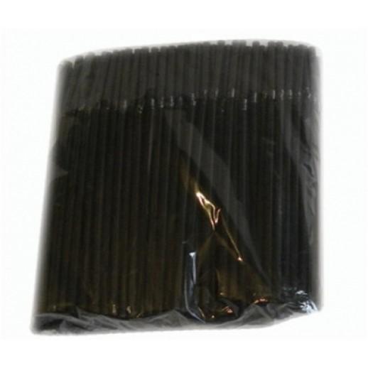 Трубочка коктейльная черная 5*210 со сгибом 1000 шт, Барные принадлежности