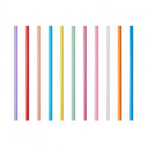 Трубочка коктейльная цветная 5*125 короткая 400 шт, Украшения для коктейлей и канапе, трубочки