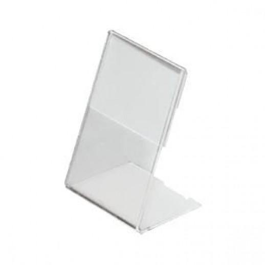 Ценникодержатель 60*80 прозрачный 1 мм, РАЗНЫЕ МЕЛОЧИ: кассовая лента, бланк счёта, чайные фильтры, зубочистки,подарочный сертификат