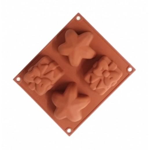 Форма силикон БЭБИФЛЕКС рождество HSF01, Силиконовые формы для выпечки