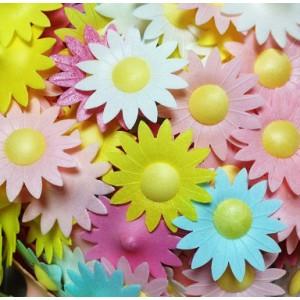 Вафельный цветок Маргаритки 10 шт 8699