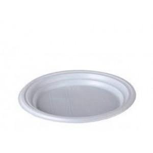 Тарелка одноразовая пластик 20,5 см БЕЛАЯ 100 шт