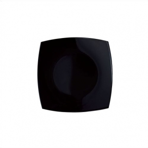 Тарелка мелкая 19*19  Квадро черная